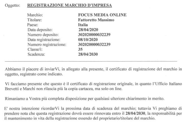registrazione marchio